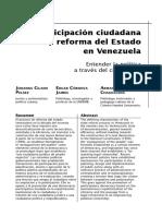 Participacion ciudadana y reforma del Estado en Venezuela.pdf
