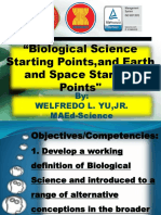 Biological Science and Earth and Space Starting Points