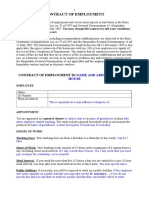 Contract of Employment General