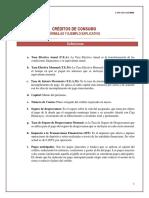 Fórmulas y Ejemplo de Crédito de Consumo 2019