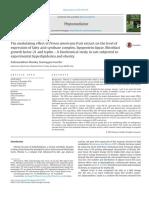 El Efecto Modulador Del Extracto de Persea Americana Fruit en El Nivel de Expresión Del Complejo de Ácido Graso Sintasa