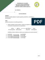 Guía de Ejercicios Métodos Gravimétricos Unidad 2