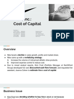 Nike, Inc.- Cost of Capital