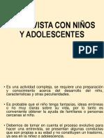 Entrev Niños y Adolescs