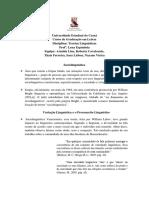 Teorias Linguísticas 2-1