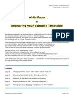 WhitePaper Improving Your Timetable