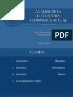 Análisis de la Coyuntura Económica Actual. José Desormeaux