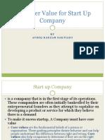 Customer Value on Start Up Company