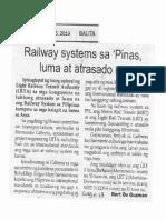 Balita, Oct. 15, 2019, Railway systems sa Pinas luma at atrasado na.pdf