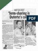 Daily Tribune, Oct. 15, 2019, Ter-sharing is Duterte's call.pdf