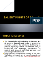 Salient Points of Ra 10364