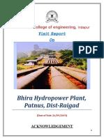 Bhira Visit Report
