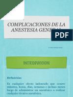 Complicaciones de Anestesia Generalkey2 2