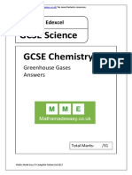 GCSE Chemistry. Greenhouse Gases. AQA OCR Edexcel. Answers