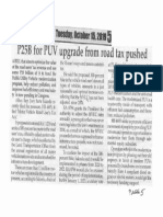 Peoples Journal, Oct. 15, 2019, P25B for PUV upgrade from road tax pushed.pdf