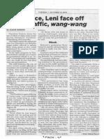 Philippine Star, Oct. 15, 2019, Palace, Leni face off on traffic, wang-wang.pdf