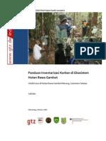 Panduan Inventarisasi Karbon Hutan Rawa Gambut