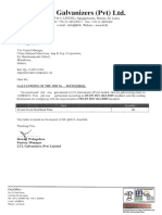 Galvanizing Report for steel