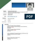 Cv Edwin Arturo González Ávila Actualizado (Sep 2019)
