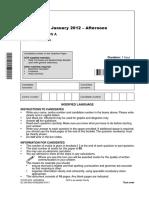 Question Paper - Unit G481 - Mechanics - Modified Language