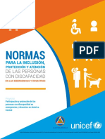 PDF Normas Para La Inclusión, Protección y Atención de Las Personas Con Discapacidad en Las Emergencias y Desastres