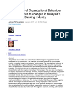 A case study of Organizational Behaviour and Resistance to changes in Malaysia.docx
