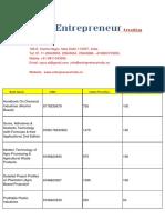 List of Technical Books Npcs India