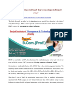 Top commerce colleges in Punjab-Top bcom colleges in Punjab | PIMT