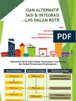 Perumusan Alternatif Rekomendasi & Integrasi Klhs Dalam RDTR