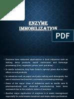 Enzyme Immobilization _ 5th SEM