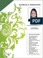 Curriculum Vitae Rochelle R. Morquianos