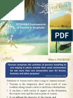 FUNDAMENTALS OF TOURISM AND HOSPITALITY