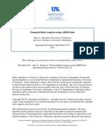 Financial Ratio Analysis ARMS