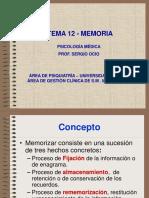 Memoria. Concepto Bases y Psicopatología 1
