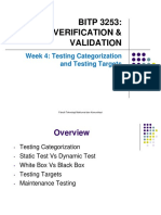 Week 4- Testing Categories and Testing Target