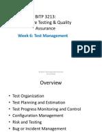 Week 7- Test Management