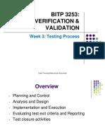 Week 3- Testing Process