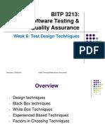Week 6- Test Design Techniques
