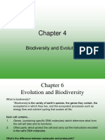 Chapter 4 - Biodiversity and Evolution 2009