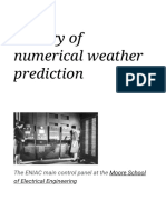 History of numerical weather prediction