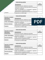 Ficha de Evaluacion Exposicion