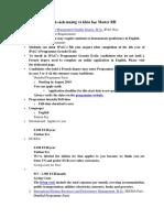 Danh Sách Trường Và Khóa Học Master RH tại Pháp