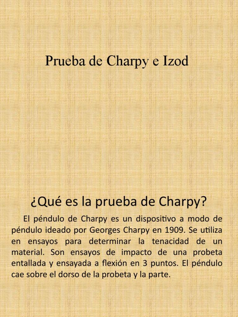Prueba de charpy pdf writer