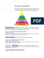 Blooms Taxonomy 2011