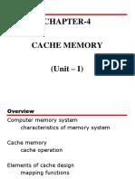 Unit 1 Part 2(Chapter 4) Cache Memory