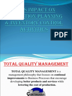 tqm impact on inventory management