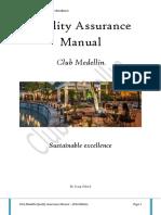 Quality Assurance Manual Club Medellin
