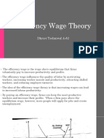 Efficiency Wage Theory and Pareto Optimality