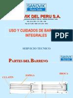 Uso y Cuidado de Barrenos Integrales