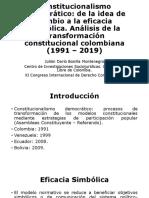 Constitucionalismo Democrático XI Congreso de Derecho Constitucional (Julian D. Bonilla M.).pptx